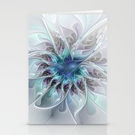 Flourish Abstract Stationery Cards