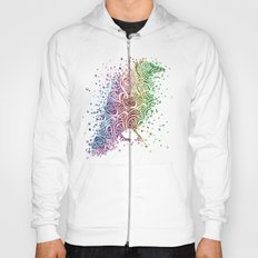 A Crow of Lace and Color Hoody