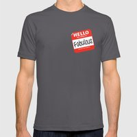 Hello My Name Is.... Fab… Mens Fitted Tee Asphalt SMALL