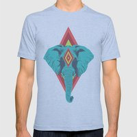 Neon Elephant Mens Fitted Tee Athletic Blue SMALL