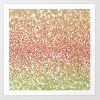 Champagne Shimmer Art Print