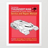 Thundertank Service and Repair Manual Art Print