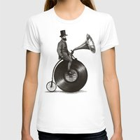bike T-shirts featuring Music Man by Eric Fan