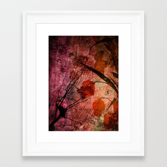 COLOR SYMPHONY ~ Asian design of flowers Framed Art Print
