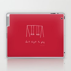 Don't forget to play - red Laptop & iPad Skin