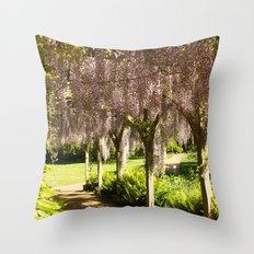 Weeping Walkway Throw Pillow