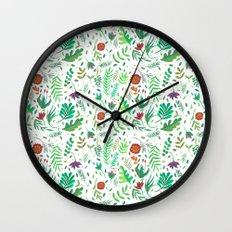 flowers watercolor Wall Clock