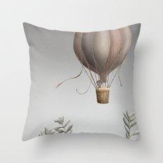 Morning Balloon Throw Pillow