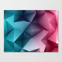 Polymetric Ocean Floor Canvas Print