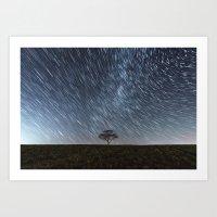 Trailing Stars Above Art Print