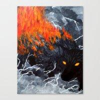 Down Cyuka Canvas Print