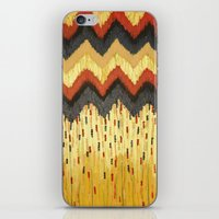 SHINE ON - Gold Glam Chevron Colorful Abstract Acrylic Pattern Painting Modern Home Decor Fine Art iPhone & iPod Skin