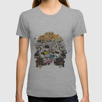 Drawing Collage #03 Womens Fitted Tee Athletic Grey SMALL
