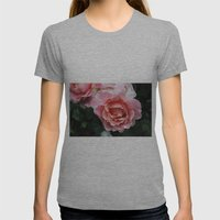 Dewdrop Roses Womens Fitted Tee Athletic Grey SMALL