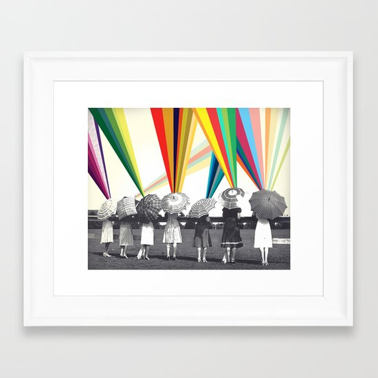 Modern women Framed Art Print