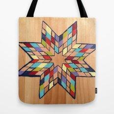 Star Quilt Block Tote Bag