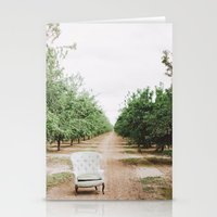 Chair In The Orchard Stationery Cards
