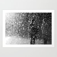 rainfall of love Art Print