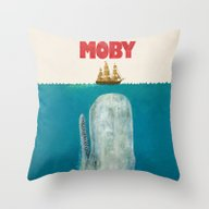 Moby  Throw Pillow