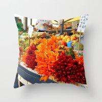 Market Place Throw Pillow