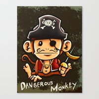 Dangerous Monkey! Canvas Print