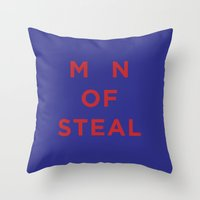 M_N of Steal Throw Pillow