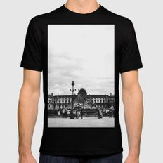 The Louvre Black Mens Fitted Tee SMALL
