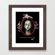 Flowers of silence Framed Art Print
