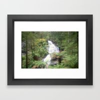 Triplet Falls Framed Art Print