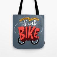 Think Once. Think Twice. Think Bike. Tote Bag