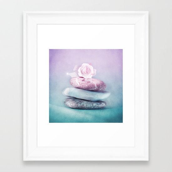 SOFT BALANCE Framed Art Print