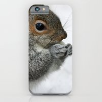 iPhone & iPod Case featuring Snow Squirrel by Karol Livote