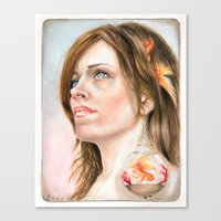 Fish Earring Canvas Print