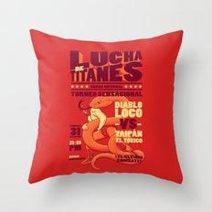 Lucha de Titanes Throw Pillow