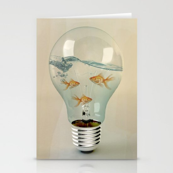 ideas and goldfish 03 Stationery Card