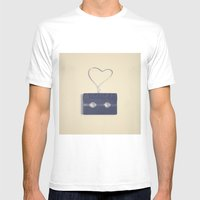 Retro Black Music Casset… Mens Fitted Tee White SMALL
