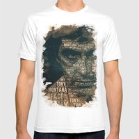 Scarface Mens Fitted Tee White SMALL