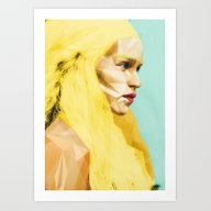 Art Print featuring Game Of Thrones - Khalee… by Lapinette