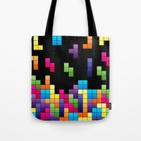 Tetris Troubles. Tote Bag