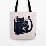 Tote Bag featuring World Domination For Cat… by Tobe Fonseca