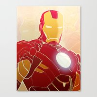 Iron Man Armor Canvas Print