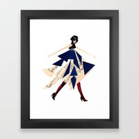 High Fashion With Shapes Framed Art Print