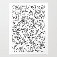 Bunny Pattern Art Print