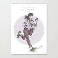 Lois Lane: Girl Reporter Canvas Print