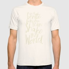 Kindness Quote by Gandhi  on Satyagraha (red version)  Mens Fitted Tee Natural SMALL