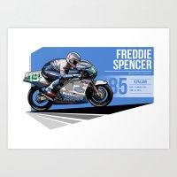 Freddie Spencer - 1985 K… Art Print