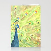peacock Stationery Cards featuring Peacock by Annie Mason