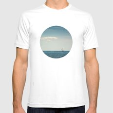 Sail Mens Fitted Tee SMALL White