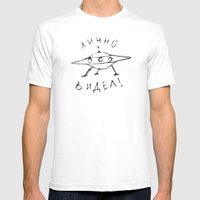 ЛИЧНО ВИДЕЛ! Mens Fitted Tee White SMALL