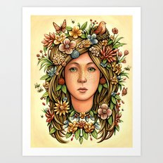 Mother Nature's Daughter Art Print